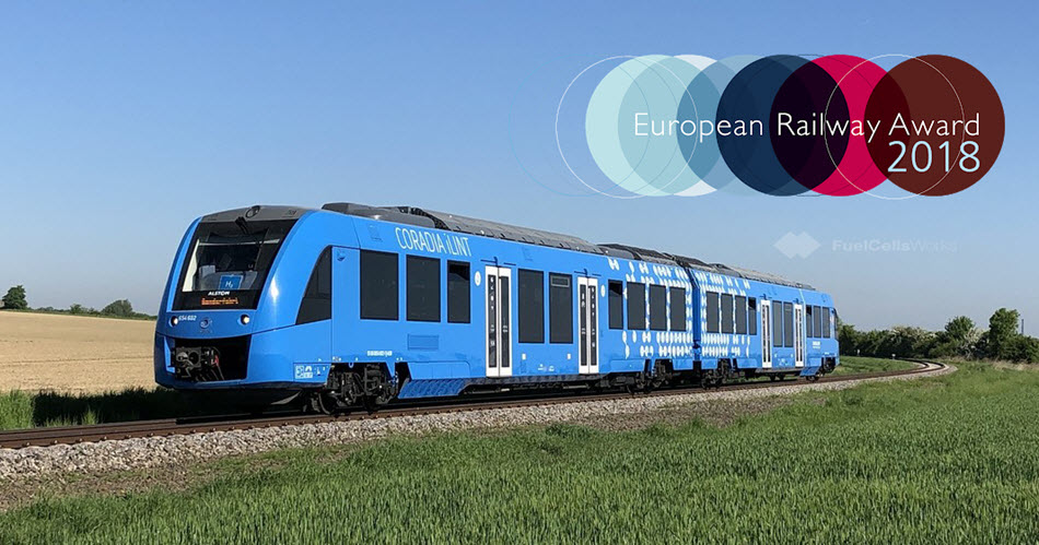 Worlds First Hydrogen Train Coradia iLint Honored with the European Railway Award 2021