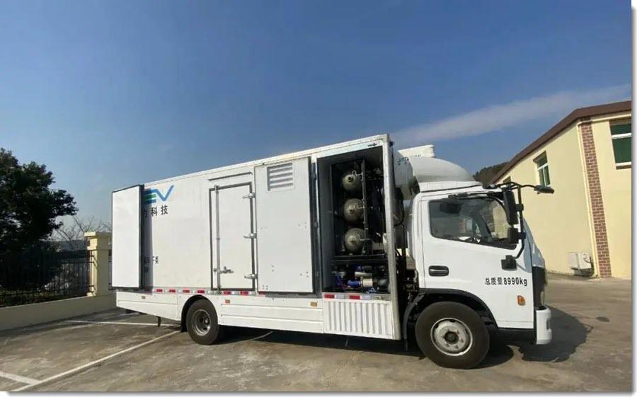 Zhejiangs First Fuel Cell Hydrogen Powered Freezer Truck Unveiled at Liuheng