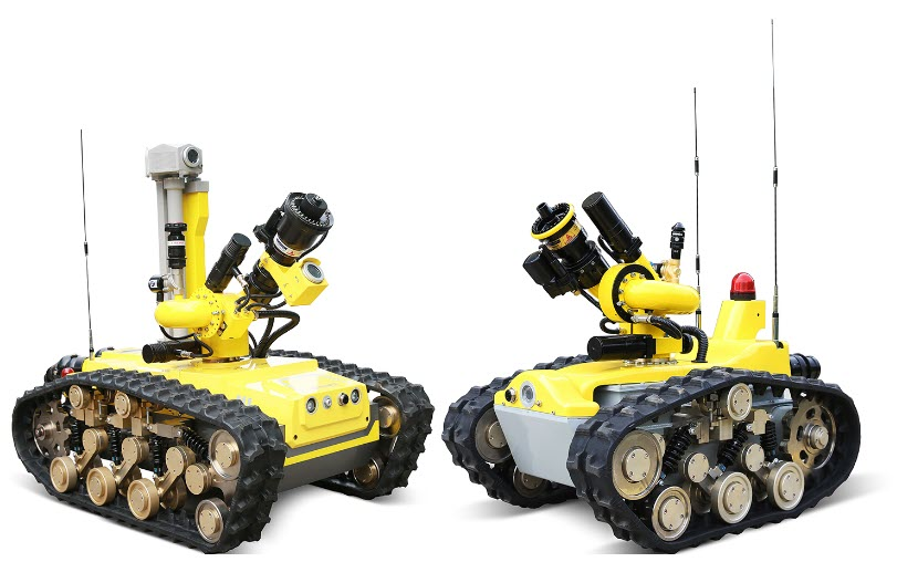 Doosan Mobility Innovation Expands Business Area to Ground Mobility with Hydrogen Fuel Cell Firefighting Robots
