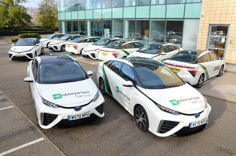 Enterprise Adds 17 Toyota Mirai Hydrogen Fuel Cell Powered Cars to its UK Fleet