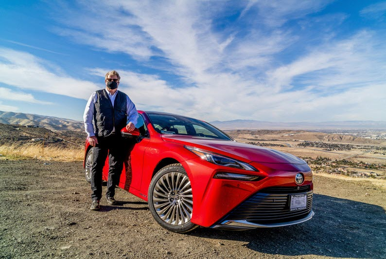 First of Toyotas Latest Hydrogen Fuel Vehicle Mirai Makes a Debut in Lancaster California