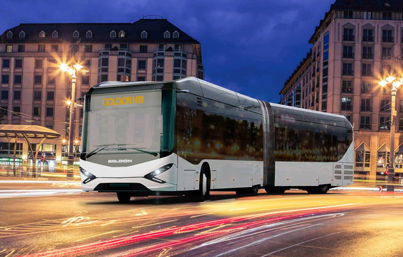 GOLDI Mobility Presents a Fuel Cell Plug in Hybrid Electric Bus FC PHEB