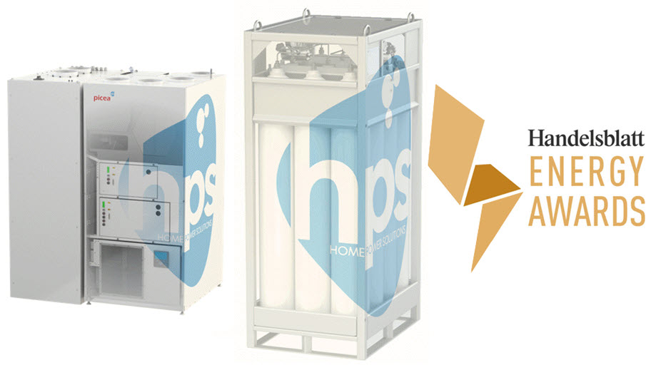fuelcellsworks, HPS Home Power Solutions Receives 2021 Handelsblatt Energy Award for its Hydrogen Power Storage System