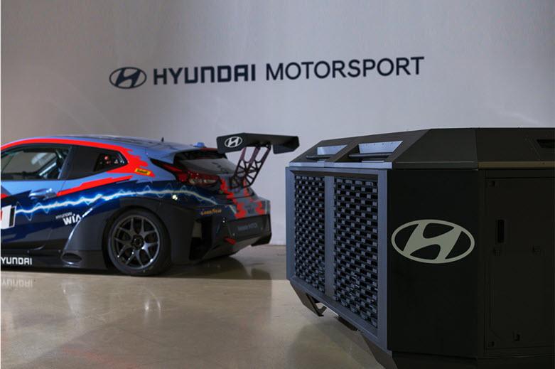 How Hyundai Motorsport Combines Electric Racing Cars and Hydrogen Generators for Charging Main