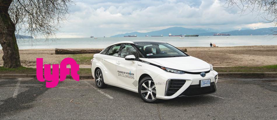 fuelcellsworks, lyft, toyota canada, hydrogen cars