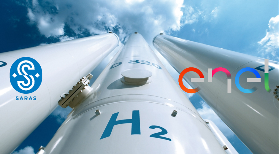 fuelcellsworks, Enel Green Power and Saras Team up to Develop Green Hydrogen