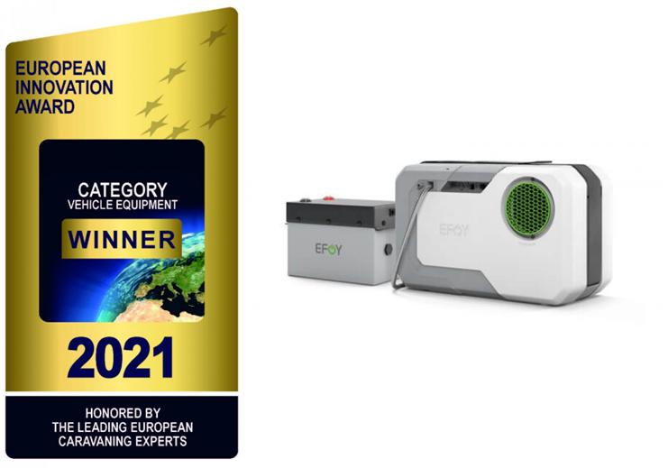 fuelcellsworks, EFOY Hybrid Power Wins European Innovation Award