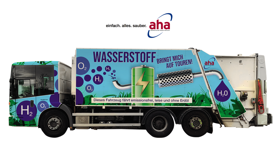 fuelcellsworks, Waste Management Region Hanover (aha) Procures Refuse Truck with Hydrogen Fuel Cell Drive