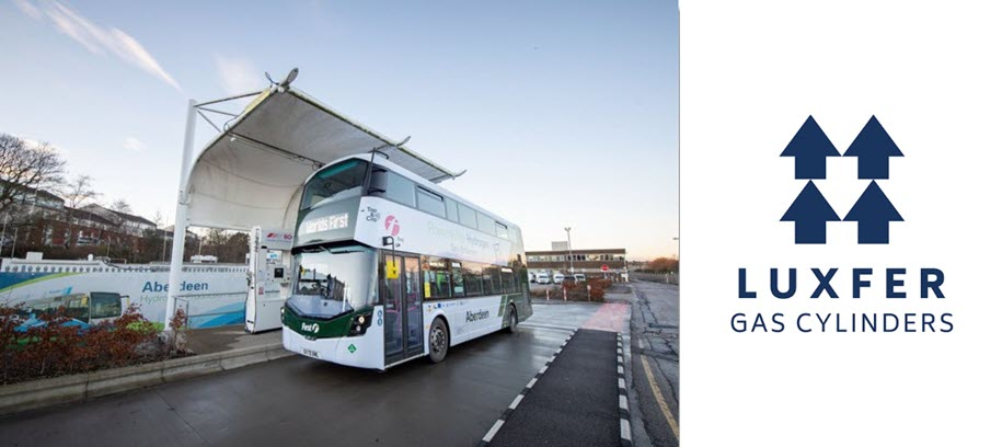 Worlds First Hydrogen Double Decker Bus with Luxfer Cylinders