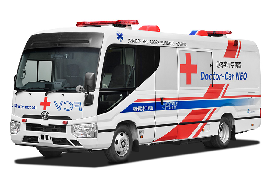 fuelcellsworks, Japanese Red Cross Kumamoto Hospital And Toyota To Begin Utilization Demonstration Of The World's First Fuel Cell Electric Vehicle Mobile Clinic