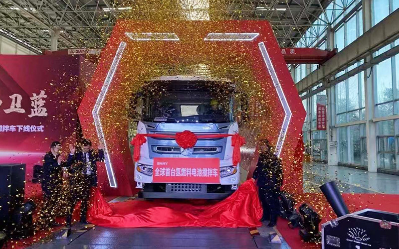 fuelcellsworks, SANY Embraces The Era Of Cleaner Fuel With Hydrogen Fuel Cell Construction Vehicles