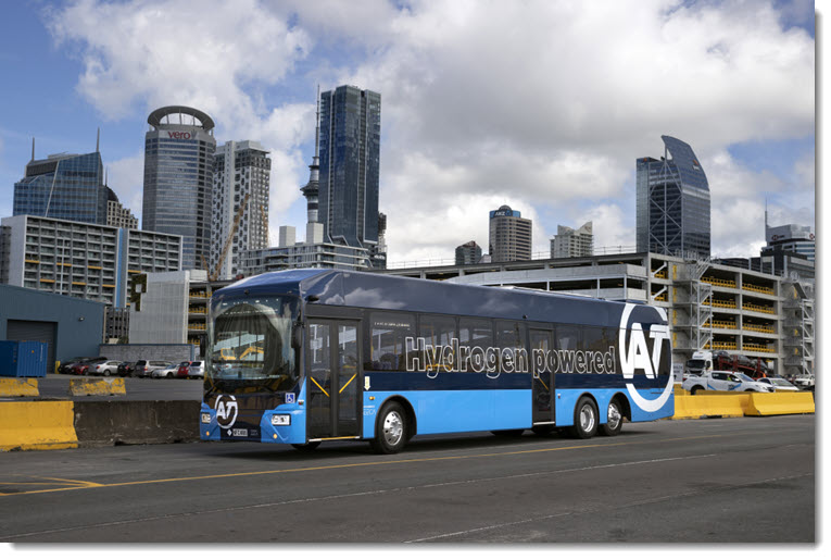 fuelcellsworks, Milestone: New Zealand Unveils Its First Hydrogen Fuel Cell Bus