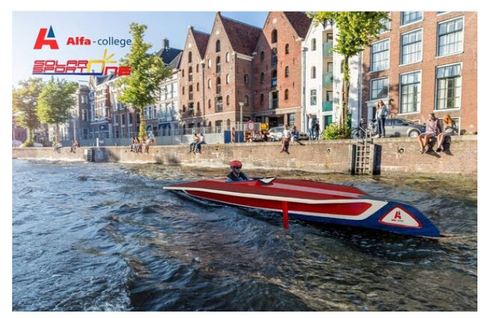 Alfa College Groningen students are building hydrogen racing boats as an asset for Solar Boat Race