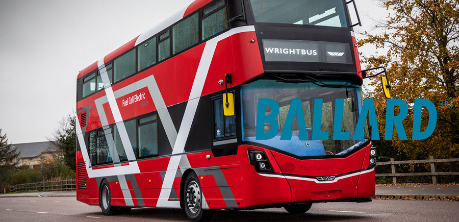 Ballard Announces Follow On Orders From Wrightbus for Fuel Cell Modules to Power 50 Buses in the U.K.
