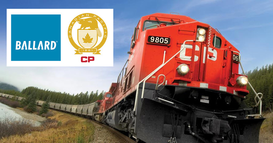 Ballard Fuel Cells to Power CP Hydrogen Locomotive Program
