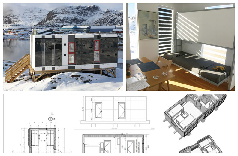 Climate Cottage Running on Fuel Cells Collage