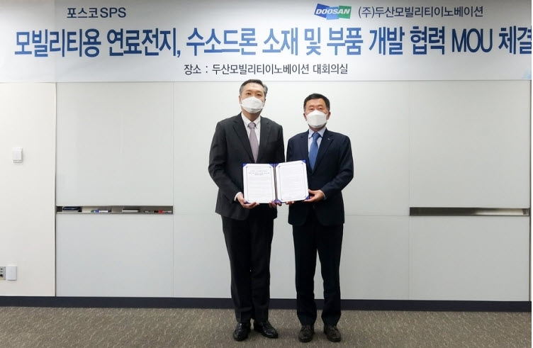 Doosan Mobility and POSCO Team up on Hydrogen Fuel Cells for Drones