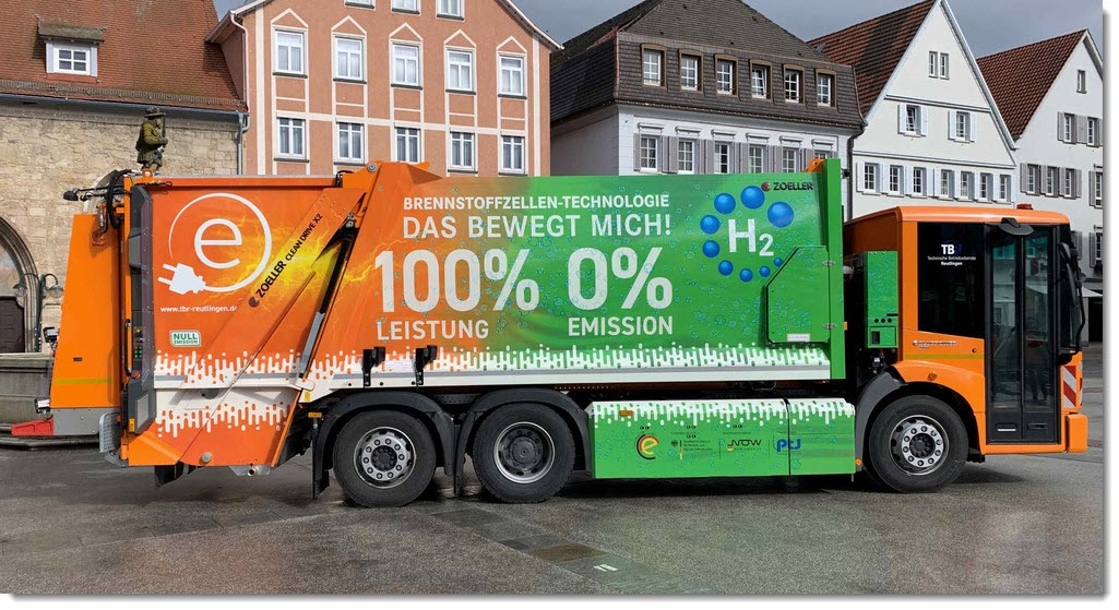Fuel cells works, First Refuse Collection Vehicle With Fuel Cells in Southern Germany