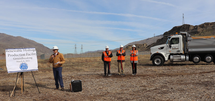 Fuel cells works, Douglas PUD Holds Groundbreaking Ceremony on Renewable Hydrogen Production Facility