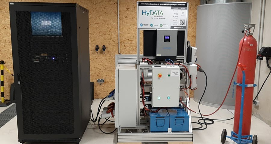 Fuel cells works, France: In Belfort Business and University Team Up to Test Hydrogen for Data Centers