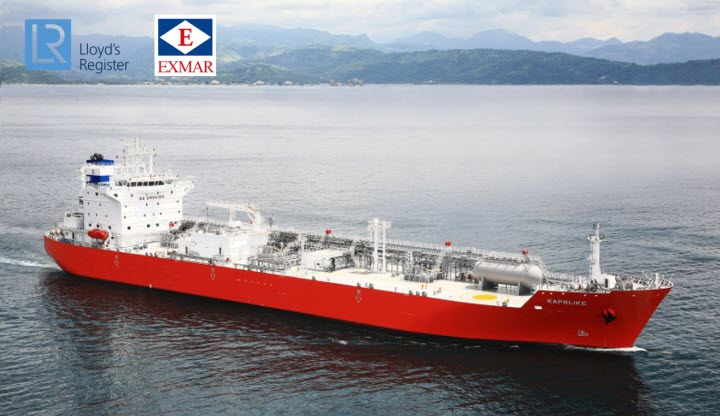Lloyds Register Awarded an Approval in Principle to EXMAR for Ammonia Fuelled Gas Carrier