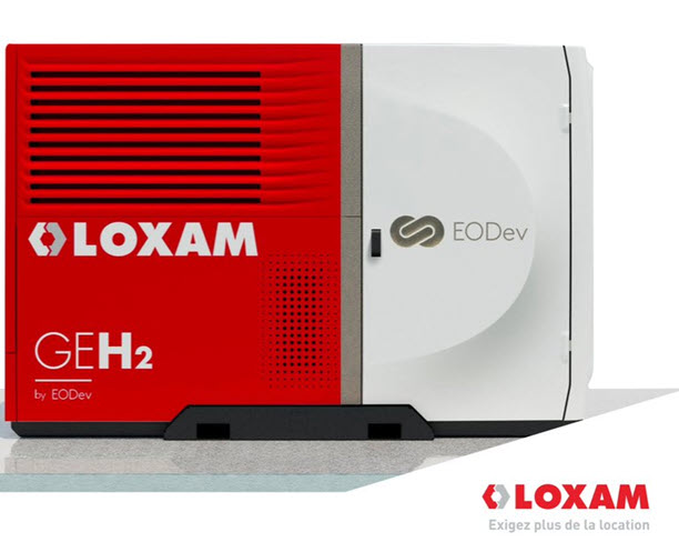 Loxam Offers the First Geh2%C2%AE Electro Hydrogen Group From EODev for Rent