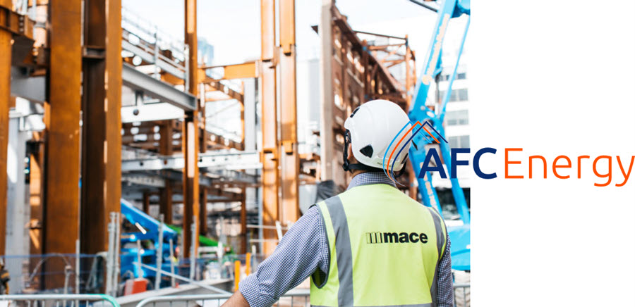 Mace and AFC Energy Sign UKs First Partnership in Using Hydrogen Power to Decarbonise Construction Sites