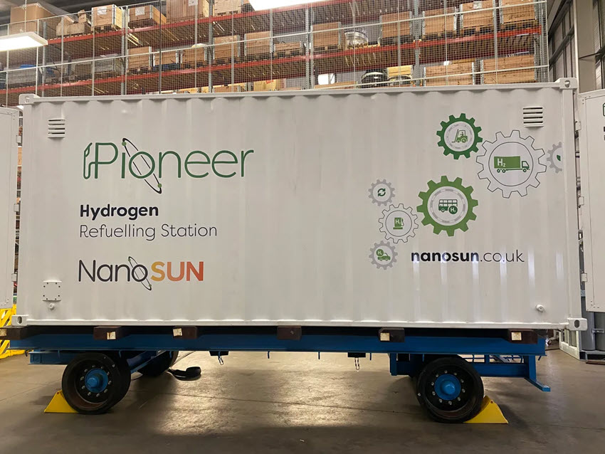 NanoSUN Complete Manufacturing of its First Hydrogen Refueller
