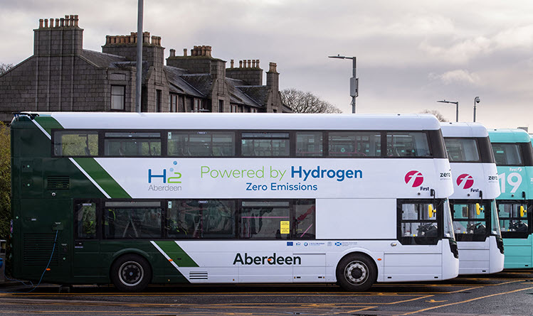 New Funding to Bring 10 hydrogen Buses to Aberdeen