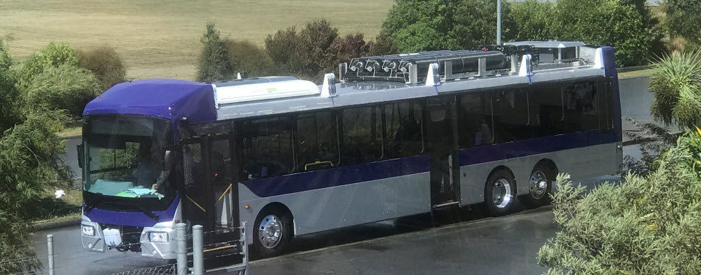 New Zealands First Fuel Cell Bus Being Tested at GBV