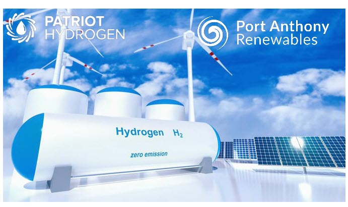 Fuel cells works, Port Anthony Renewable and Patriot Hydrogen Form JV on Hydrogen Facility in Victoria