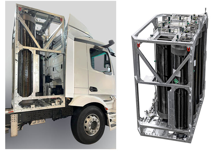 Fuel cells works, Real Laboratory Hylix-b Converts the 26-Ton Truck to a Fuel Cell Drive
