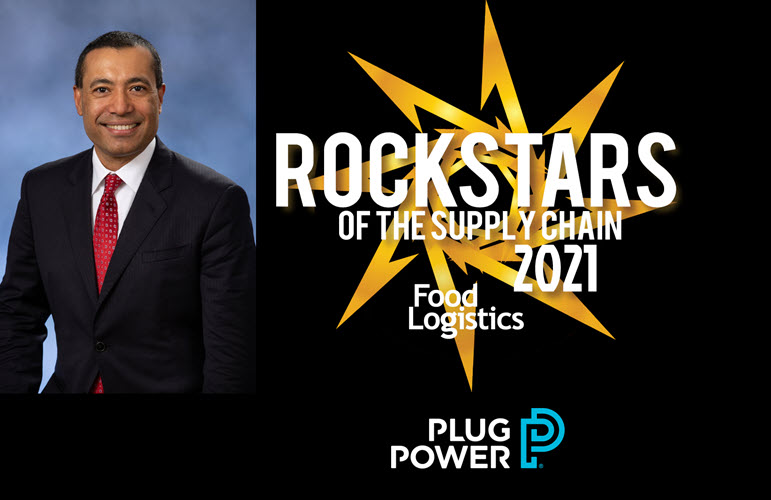 Sanjay Shrestha Of Plug Power Named To The 2021 Food Logistics Champions Rock Stars Of The Supply Chain