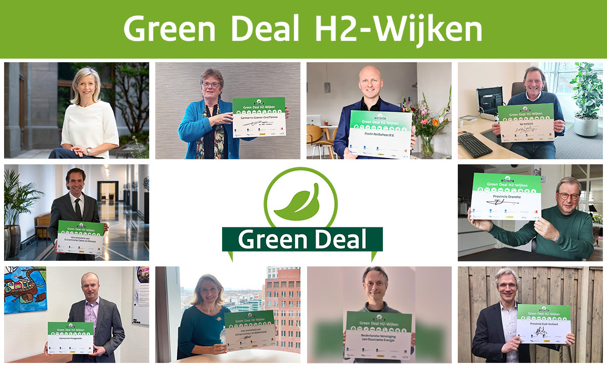 Sector and Governments Sign Green Deal H2 Neighborhoods