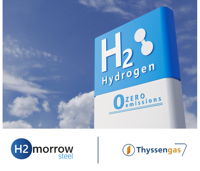 Fuel cells works, Transmission System Operator Thyssengas Joins Hydrogen Project H2morrow Steel