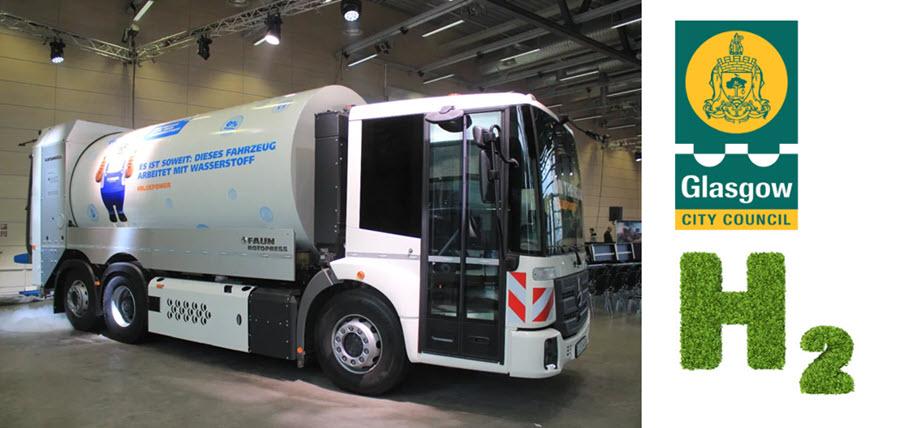 fuelcellsworks, World's Largest Fleet of Hydrogen-Powered Bin Lorries to Arrive in Glasgow