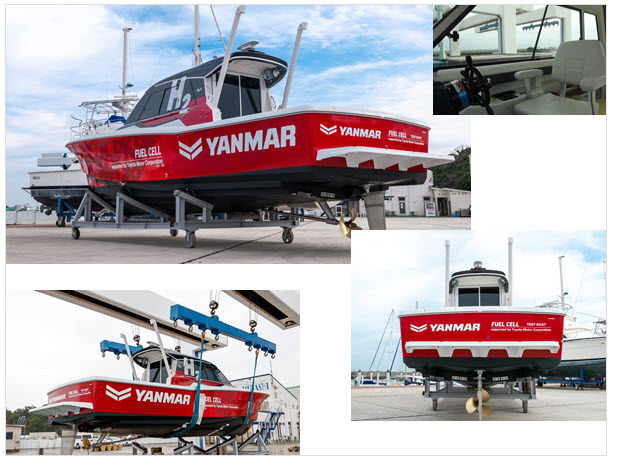 Yanmar Fuel Cell Boat New on Water