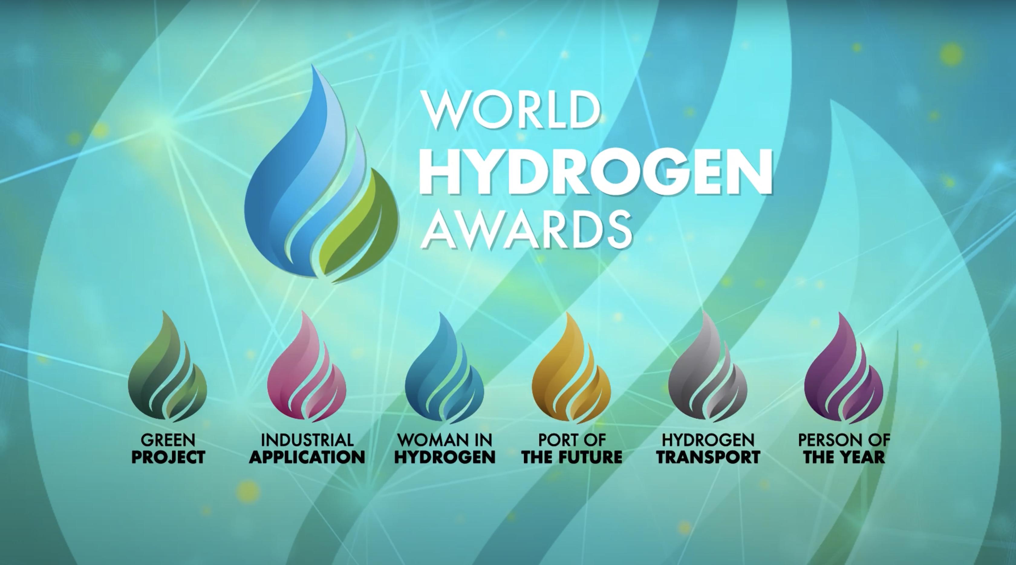Fuel cells works, hydrogen, First World Hydrogen Awards 2021 Winners Announced