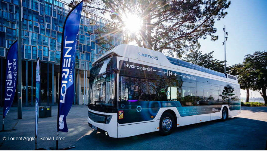 Fuel cells works, hydrogen, buses, lorient, fuel cells