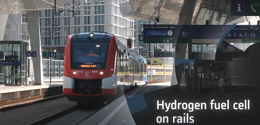 Alstom Hydrogen On the Rails
