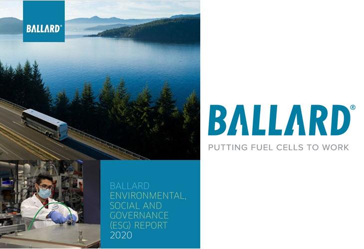 Ballard Issues Environmental Social and Governance ESG Report 2020