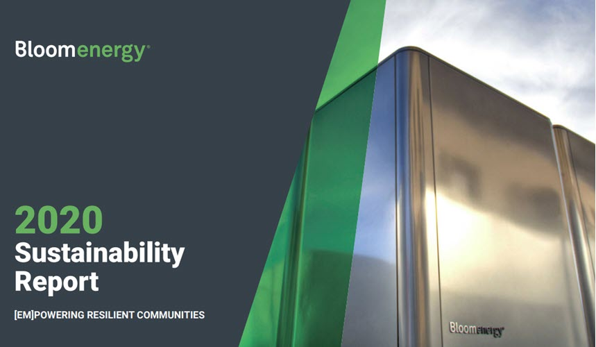 Bloom Energy Announces Inaugural Sustainability Report 1