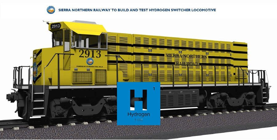California Energy Commission Awards Sierra Northern Railway Team nearly 4M to Build and Test Hydrogen Switcher Locomotive