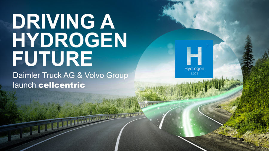 Daimler Truck AG and Volvo Group Fully Committed to Hydrogen Based Fuel cells %E2%80%93 Launch of New Joint Venture Cellcentric
