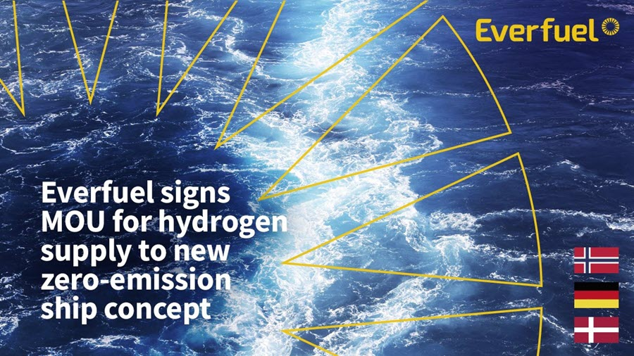 Everfuel Signs Mou for Hydrogen Supply to New Zero emission Ship Concept