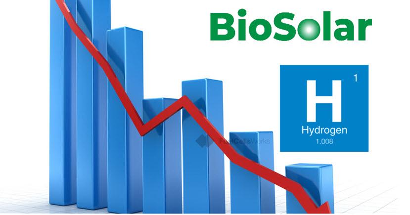 Falling Prices of Hydrogen BioSolar
