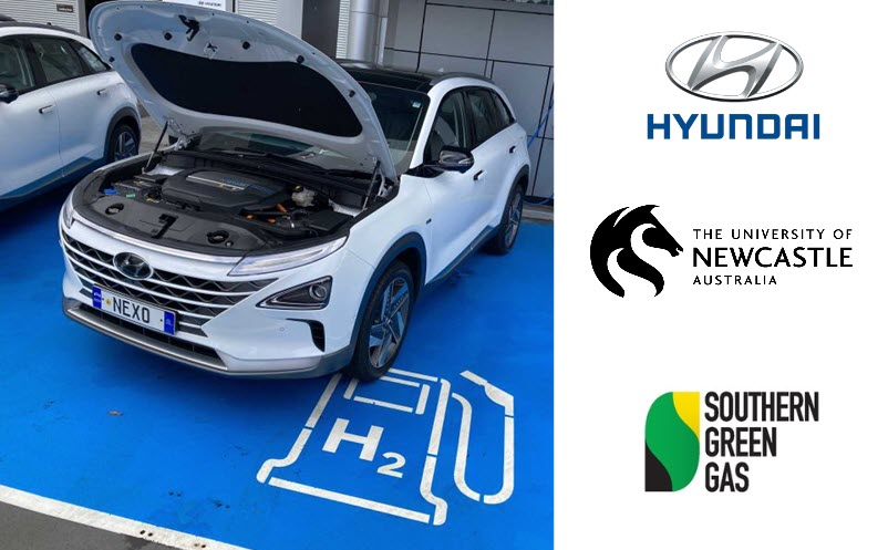 Hyundai Refueling from new Hydrogen Produced from Air