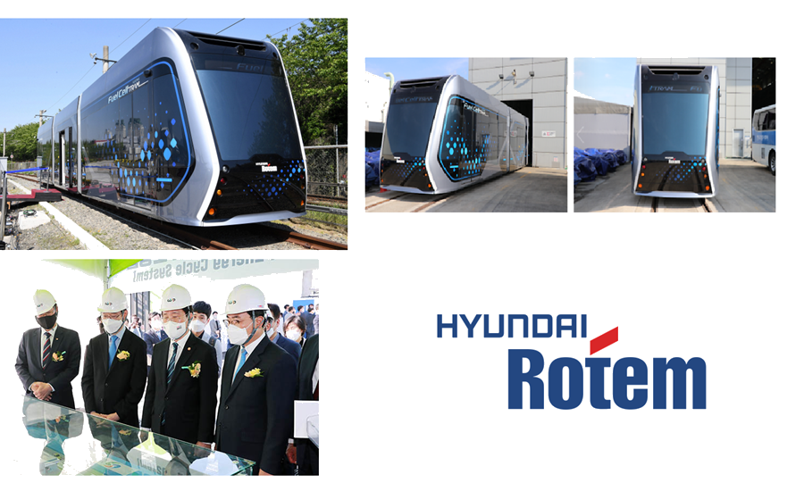 Fuel cells works, Hyundai Rotem Presents the Hydrogen-Electric Tram Concept for City Transportation