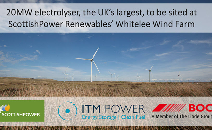 ITM Power and Scottish Power Bring UKs Largest Green Hydrogen Plant to Glasgow