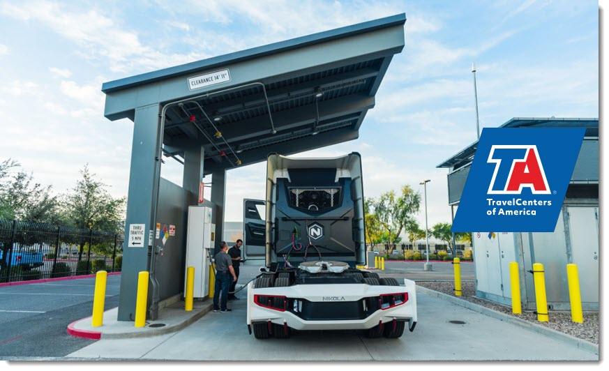Fuel cells works, hydrogen, Nikola, TravelCenters, fuel cells
